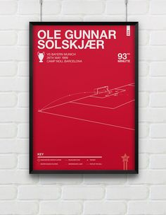 Ole Gunnar Solskjaer vs Bayern Munich Giclee Print A2 / A3