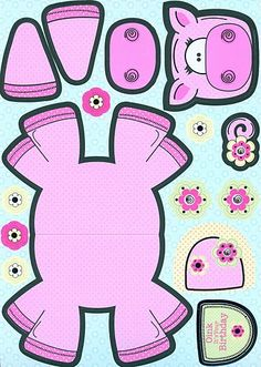 Pig Crafts, Animal Crafts, Preschool Activities, Crafts For Kids, Paper Puppets, Paper Toys, Diy Paper, Paper Art, Paper Crafts