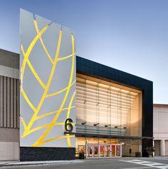 Alpolic project: pickering town centre by alpolic shopping mall architectur Entrance Design, Facade Design, Exterior Design, Retail Architecture, Contemporary Architecture, Architecture Design, Commercial Architecture, Mall Facade, Retail Facade