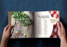 Design of a menu for cafe in a bookstore by Alena Milevskaia, via Behance