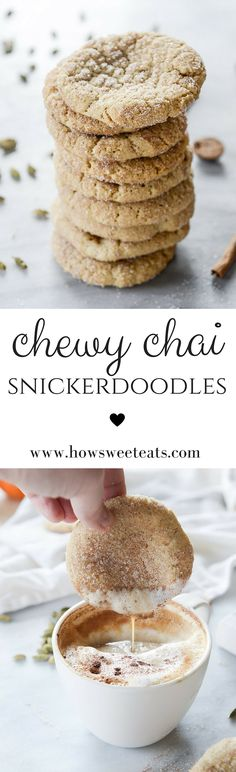 Chewy Chai Snickerdoodles by @howsweeteats I howsweeteats.com