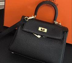 1009be13c2a2 2018 Hermes Clemence Leather Kelly 20cm Mini Bag black Birkin Hermès