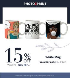 #SouthAfrica #photo2printza #personalisedgifts #perfectgift #giftidea Mugged Off, Welcome Gifts, Photo Book, Personalized Gifts, Coding, Mugs, Customized Gifts, Tumblers, Mug
