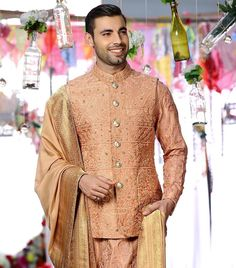 Matching Couple Outfits, Matching Couples, Groom Wear, Groom Outfit, Angrakha Style, Monochrome Outfit, Pastel Outfit, Groom Looks, Indian Groom