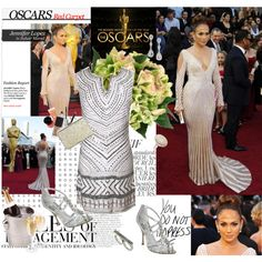 Jennifer Lopez Oscar 2012 by kenguri on Polyvore featuring DAY Birger et Mikkelsen, Dune, Coast, Miss Selfridge, Eliot Danori, Bela, Vera Wang, Zuhair Murad and Jennifer Lopez