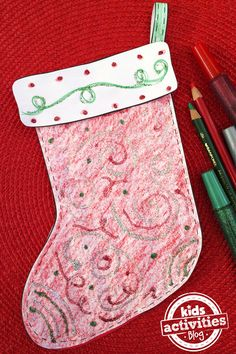 This holiday decorate a stocking with this free kids printable. This is a fun and festive Christmas activity to do with the whole family!