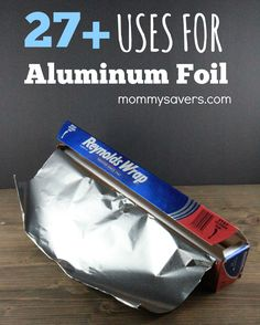27 Resourceful Uses for Aluminum Foil   Mommysavers  No curlers?  Wrap chunks of your wet hair in foil, coil it and blow dry it.