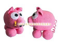 Cerdito de ganchillo Piggy Bank, Crochet Hats, Crochet Pig, Knitting Hats, Money Bank