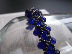 Crystal Bracelet  Beaded Bracelet  Blue by VictorianPunkJewelry, $20.00