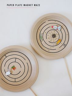 Paper Plate Magnet Maze Toy