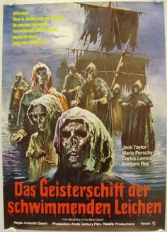 Ghostship of the blind dead love the image of the templars emerging from the water
