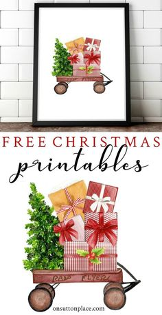 Free Christmas Printables and DIY holiday wall decor ideas. Get tips for printin… Free Christmas Printables and DIY holiday wall decor ideas. Get tips for printing and framing, along with inspiration to create your own custom look. Noel Christmas, Outdoor Christmas, All Things Christmas, Christmas Ornaments, Christmas Wall Decorations, Christmas Movies, Christmas Albums, Christmas Vacation, Christmas Lights
