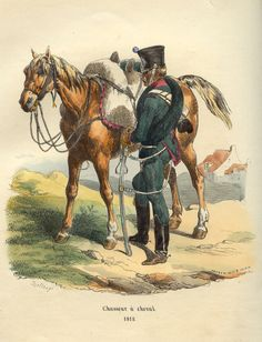 French chasseur à cheval (light cavalry), 1812.