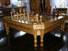 Chess set Furniture Meuble Table by LadyJanesCollection on Etsy, $38000.00