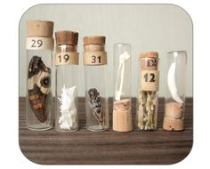 love the vials with curiosities...