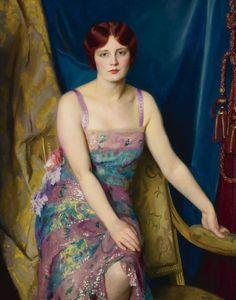 """thegardenofdelights: """"Glitter"""" (1930) by William McGregor Paxton (1869-1941)."""