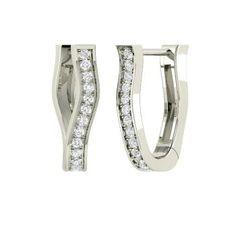 Round SI Diamond  Earrings in 14k White Gold