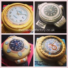 Rolex and Hublot Watch Cakes