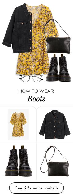 """Untitled #2424"" by oliviaswardrobe on Polyvore featuring Monki, Dr. Martens and Ray-Ban"