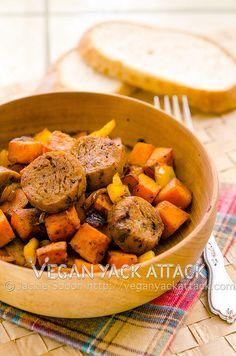 Vegan Sweet Potato Hash with Chipotle Seitan Sausage