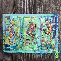 Artwork created by Karen Hayselden using rubber stamps designed by Daniel Torrente for Stampotique Originals