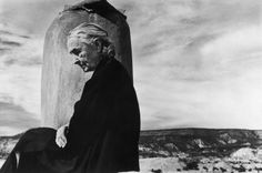 Georgia O'Keeffe photographed on the roof of her Ghost Ranch home in New Mexico, 1967.   Photo: John Loengard—Time & Life Pictures/Getty Images  Read more: http://life.time.com/culture/invincible-georgia-okeeffe-1967/#ixzz2Cgi8moSg