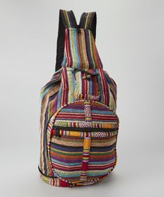 Loving this Royal Handicrafts Red  amp  Blue Stripe Backpack on  zulily!   zulilyfinds. Striped Shoulder BagsStriped ... 11f875fc9b