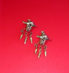 Fabulous Vintage Earrings Atomic Space Age Modernist by baublology
