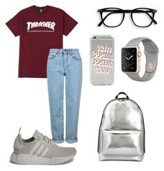 """топ шмот"" by raspberrychild26 on Polyvore featuring Topshop, adidas and 3.1 Phillip Lim"