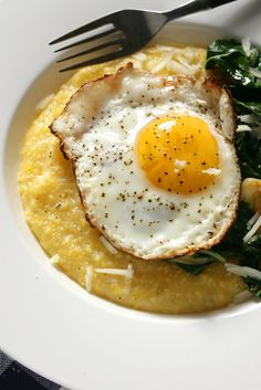 NYT Cooking: If you've ever decided that cold cereal is a good dinner, here's another, far better option. Soft and steaming, with plenty of salt and pepper mixed in and perhaps some grated cheese applied at the end, a bowl of polenta or grits is deeply satisfying and requires not much more than a pot and a spoon to prepare. And topping the buttery, cheesy polenta with eggs fr...