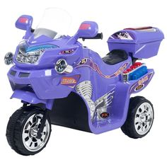 Lil Rider Purple Perfection FX Motorcycle Battery Operated Tricycle