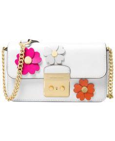 d3da6791c1d6 MICHAEL Michael Kors Flora Appliqué Wallet On A Chain   Reviews - Handbags    Accessories - Macy s