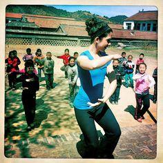 """Tai chi crosses many boundaries."" - Katie teaching Tai Chi in a small, rural town - TAI CHI CROSSROADS BLOG: taichicrossroads.blogspot.com - #Tai_Chi #Taijiquan"