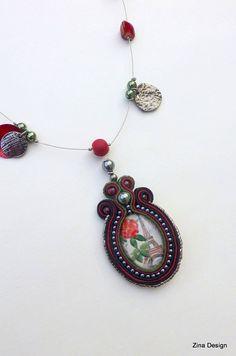 Paris Soutache Necklace by ZinaDesignJewelry