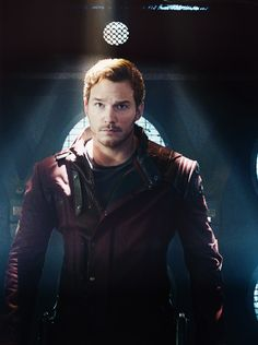 Chris pratt as Peter Quill<--- didn't write this. But No no no no is not Peter Quill well it's but he prefers ..... STARLORD!!!!!