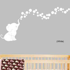 Elephant Bubbles Nursery Room Removable Wall Decal | Wayfair