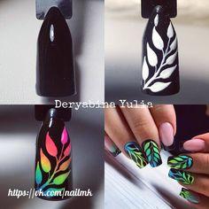 Маникюр пошагово Tribal Nails, Neon Nails, Love Nails, Diy Nails, Nail Art Designs Videos, Nail Designs, Nail Art Techniques, Almond Nails Designs, Pretty Nail Art