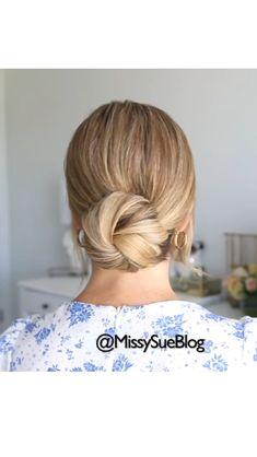 Easy Hairstyles For Long Hair, Up Hairstyles, Pretty Hairstyles, Hair Up Styles, Bridal Hair Updo, Silver Hair, Hair Today, Hair Hacks, Hair Inspiration