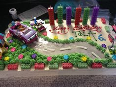 Lego friends cake for a girl