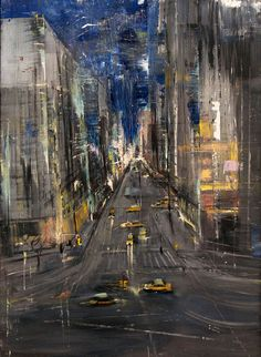 Gregory Prestegord, 'Abstract NY Streets', 48 x 35, Oil on Panel