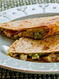 Quesadillas con pavo y guacamole