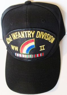 42ND INFANTRY DIVISION WORLD WAR II  W/ CAMPAIGN RIBBON BALL CAP/HAT #MILPRO #BallCap
