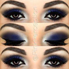 @PinkPerception blue smokey eye #makeupideasforhomecoming
