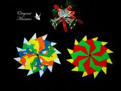 Mandalas de origami para el árbol de Navidad