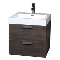 "22.75"" Single Bathroom Vanity Set in Grey Oak TN-T580-GO"