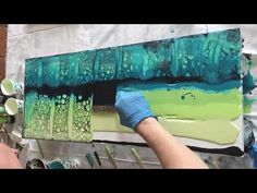 Acrylic Pour using silicone and Floetrol - YouTube