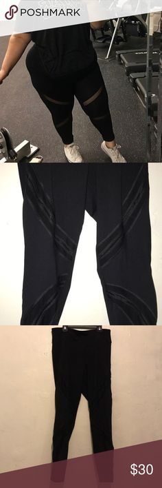 """Active leggings The model is @Nancyjourney on Instagram and I believe she is wearing a size 3X.  The size I'm selling is a 0x and they are 15 1/2"""" across on the waist(without stretching the elastic waist band) and 36"""" long.  They are VERY stretchy 87% nylon 13% spandex.  Perfect for workouts and gym selfies Forever 21 Pants Leggings"""