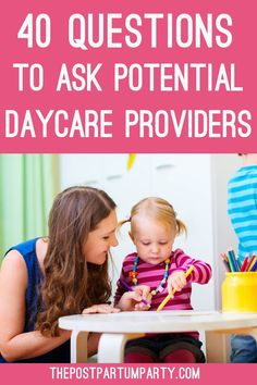 What questions should you ask a daycare provider? When touring and interviewing daycares, make sure you come armed with a list of questions to ask. I've come up with a full list of questions so you can ask away! Questions To Ask Daycare, Fun Questions To Ask, List Of Questions, What If Questions, This Or That Questions, Mindful Parenting, Gentle Parenting, Parenting Advice, Parenting Memes