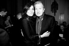 Emmanuelle Alt et Mario Testino au défilé Atelier Versace haute couture printemps-été 2014