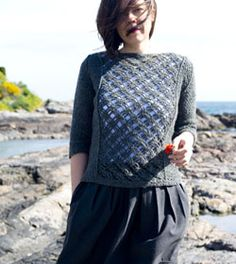 Crochet pattern for Eventide Sweater - a modern looking crochet piece that is sophisticated and practical. Find the pattern at http://kraftling.ca/second_page.php?pattern=eventide